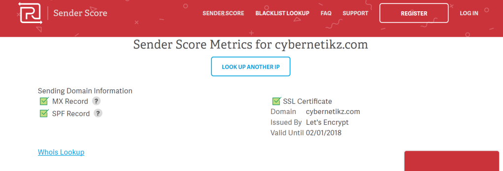 returnpath senderscore tool