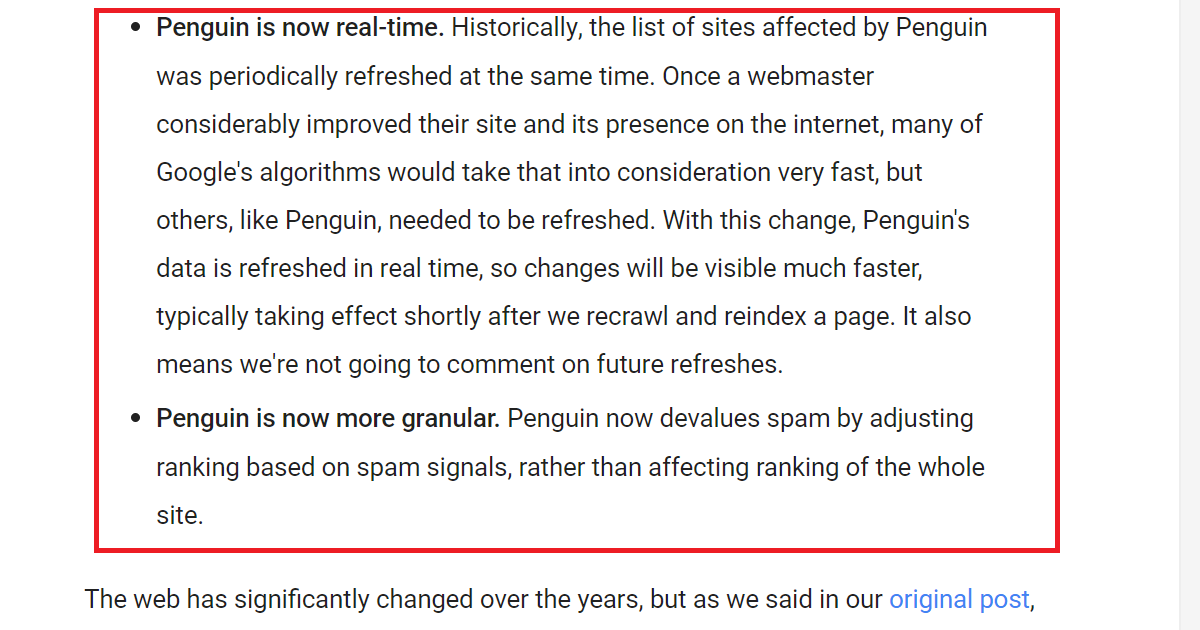 google penguin update on 2016