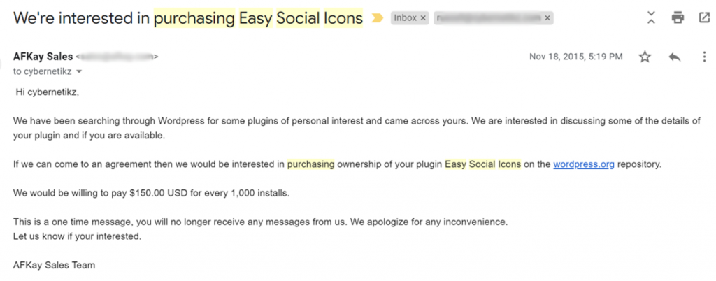 easysocialicons wpplugin purchase offer