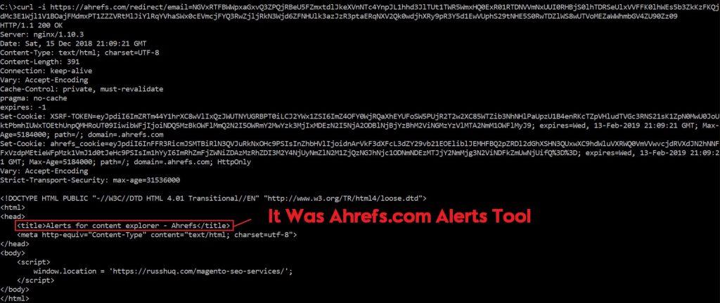 ahrefs alerts tool