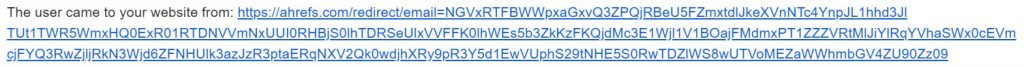 ahrefs URL